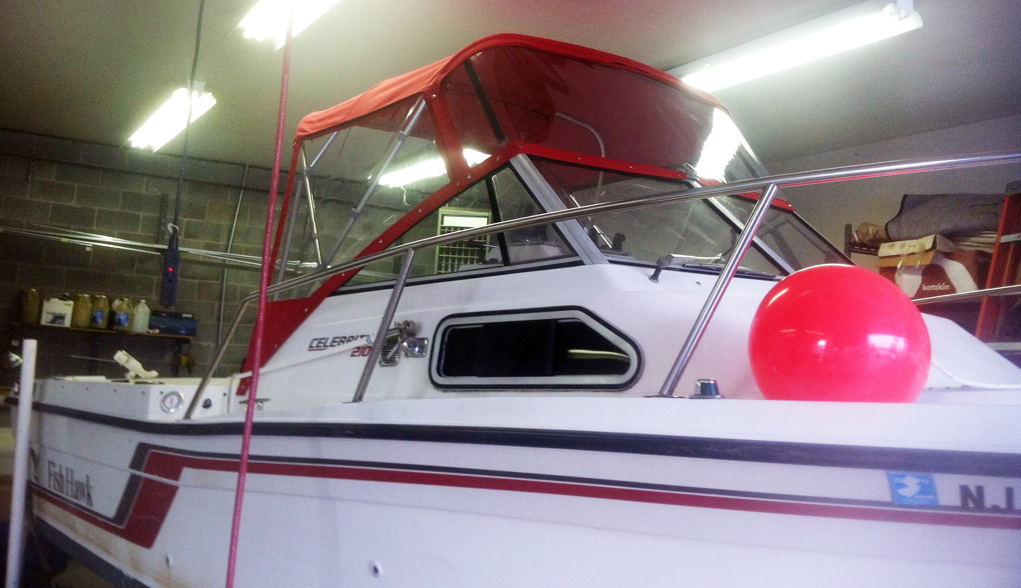 how to care for plastic boat windows