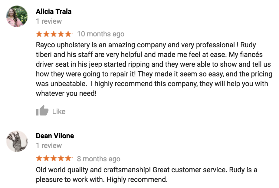 Rayco Upholstery reviews