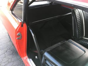 Super Sport Custom cut and stitched carpet around roll cage2