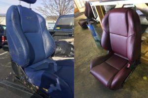custom upholstered bucket seats
