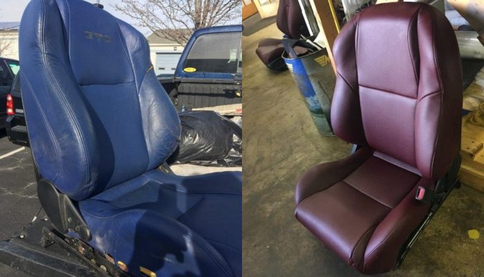 custom upholstered bucket seats